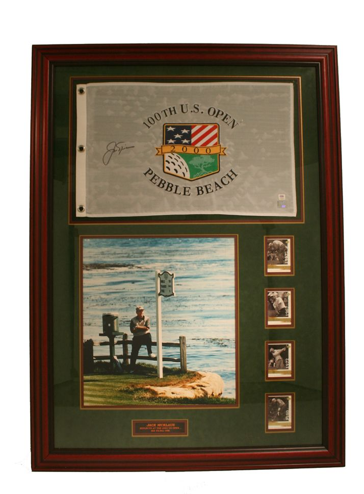 bfb94ef081c Lot Detail - Jack Nicklaus Autographed 2000 US Open Flag w 16x20 Photo