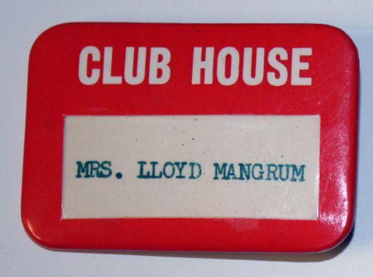 lot detail 1950 39 s club house badge lloyd mangrum collection. Black Bedroom Furniture Sets. Home Design Ideas
