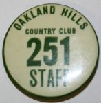 Oakland Hills Country Club Staff Pin - 1937 US Open?