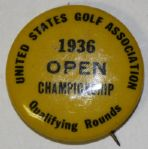 1936 USGA Open Qualifying Rounds Contestants Pin