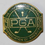 1938 PGA CONTESTANTS BADGE SHAWNEE C.C.-Paul Runyan Champion
