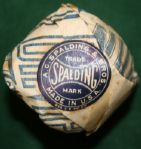 One Spalding Domino Blue Dot  Dimple In Original Wrapper-Unimprovable Condition!