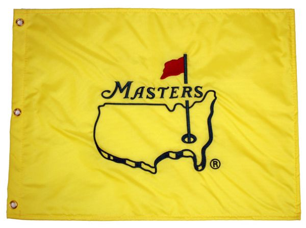 Box Of 50 Undated Masters flags Still in Sleeves and BOX from Augusta