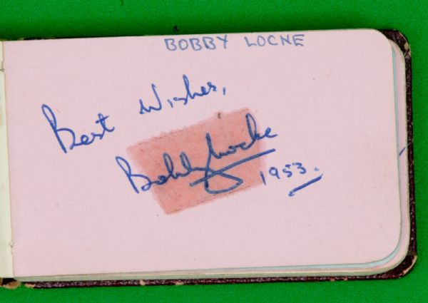 Autograph Album - Compiled in 1953 Bobby Locke