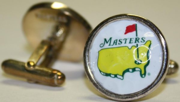 Lot detail set of masters cufflinks white golf ball for Golf buflings