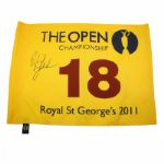 2011 Phil Mickelson Signed British Open Royal St. George Flag JSA COA