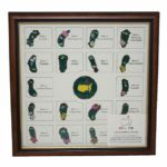 2014 Masters Limited Edition (#93/150) Framed Pin Set-Sold Out Early During Masters Week