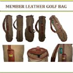 Augusta National Members Vintage Leather and Canvas Golf Bag