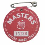 1963 Masters Badge - Jack Nicklaus First Masters Win!