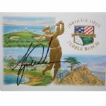 100th U.S. Open Cachet From Pebble Beach Signed By Champion Tiger Woods-JSA COA