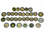 Lot of 30 Masters Dated Ball Markers 1984-2014