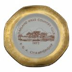 1972 PGA Championship Plate - Oakland Hills Country Club- Player Gift or Merchandise?