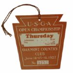 1927 US Open Championship Ticket - First at Oakmont Country Club-Seldom Seen