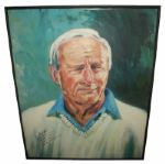 Arnold Palmers Finest Known Autograph w/Full Name & Wins On Oversize 33 X 44 Print