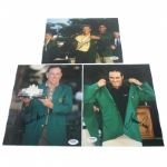 Lot of 3 Signed 8x10 Masters Presentation Photos - OMeara, Langer, and Immelman PSA