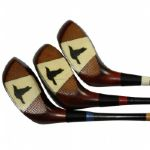 Three Matched Woods - Spalding Fancy Face Flying Crows