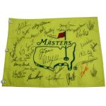 Billy Caspers Undated Masters Dinner Flag Signed by 29 Champs! JSA COA