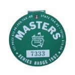 1962 Masters Badge - #7333