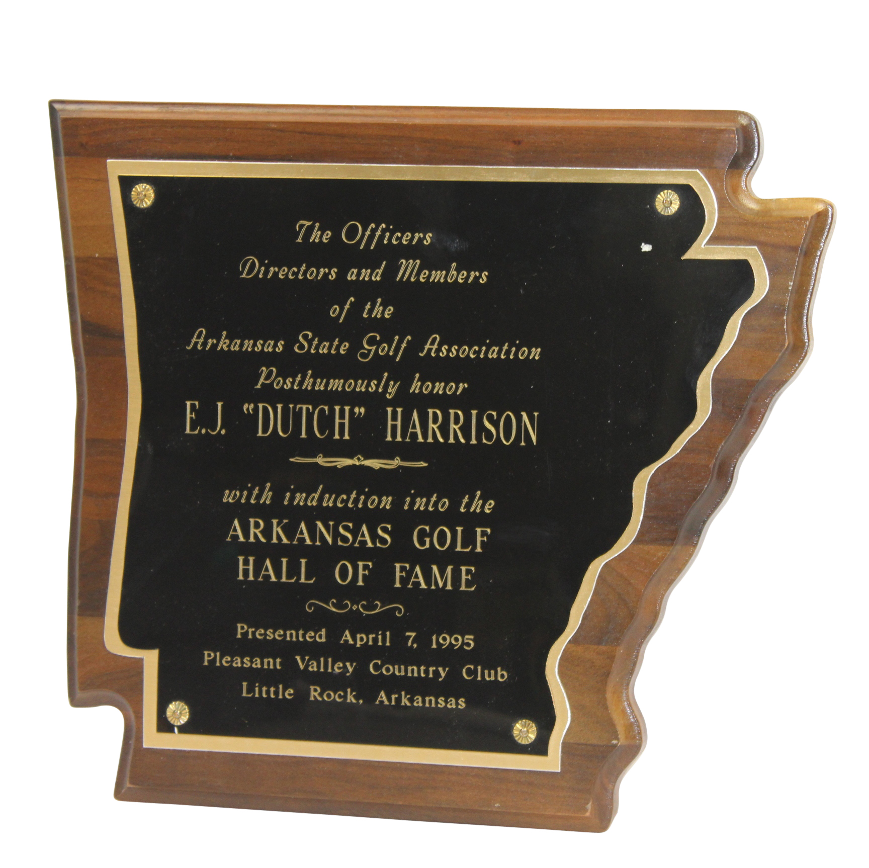 lot detail 1995 arkansas golf hof posthumous e j dutch. Black Bedroom Furniture Sets. Home Design Ideas