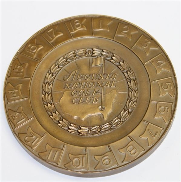 1950 Masters Tournament Bronze Medallion Players Gift - Fred Byron