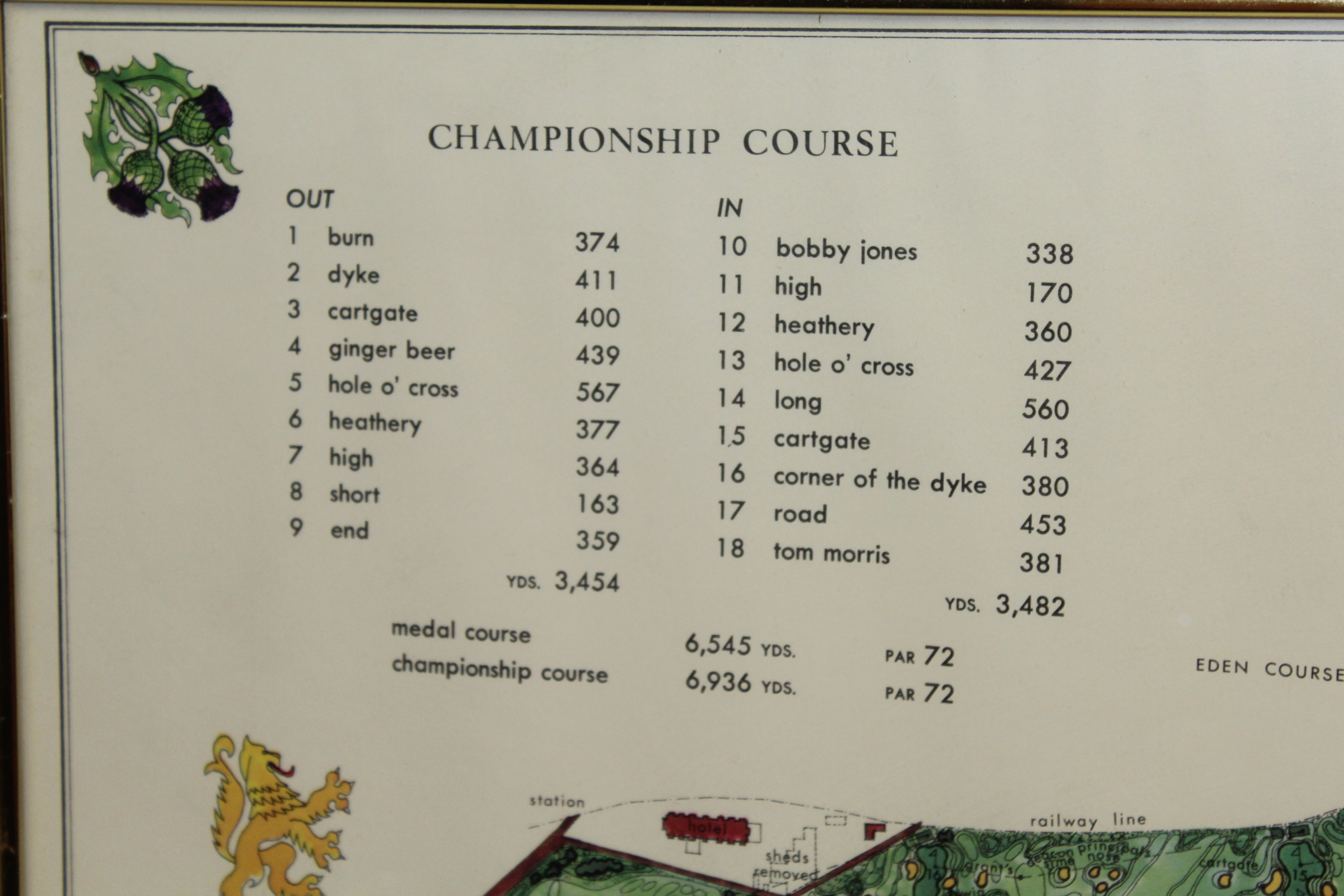 Lot Detail - 1968 The Old Course St. Andrews J.P. Izatt Golf ...