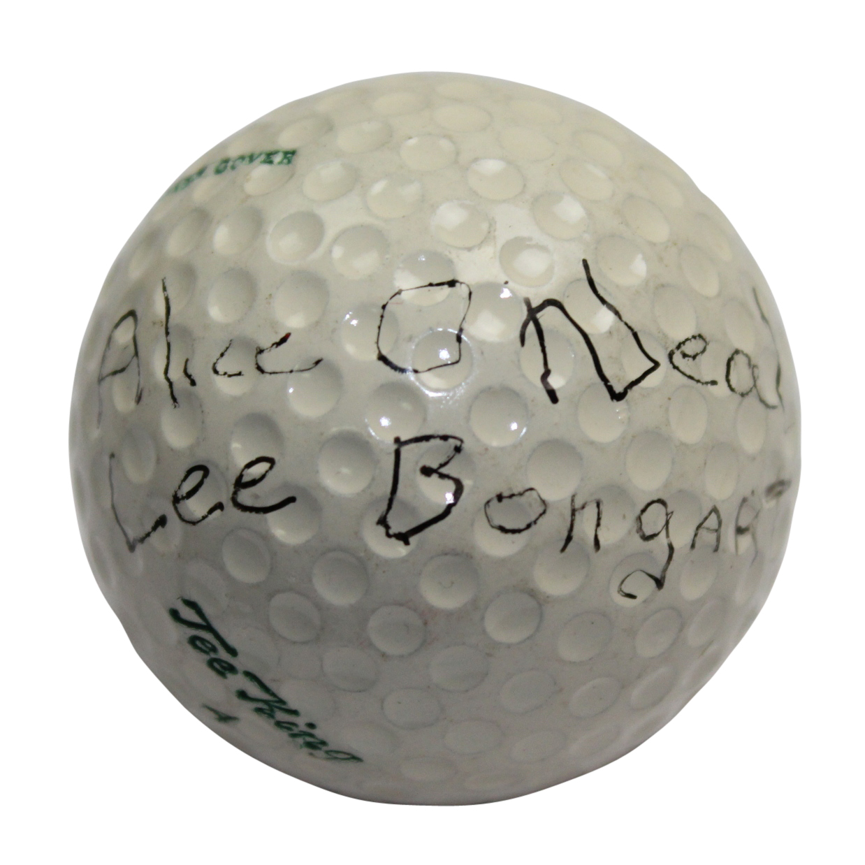Lot Detail Alice Dye Signed Maiden Name Oneal Ball Wife Of Pete