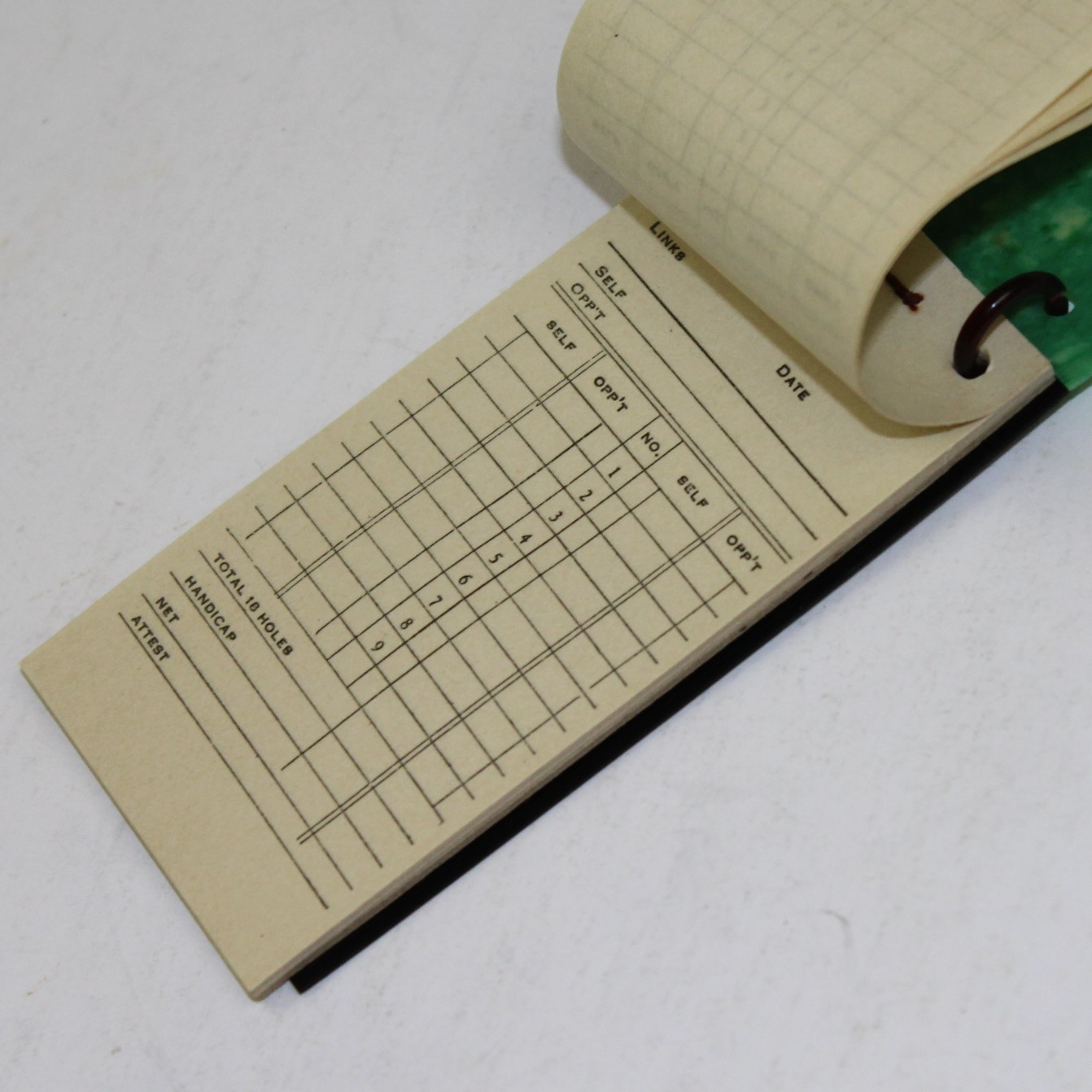 lot detail - vintage golf score book