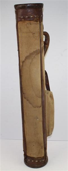 Lot Detail - Vintage Par Bag Stovepipe Leather & Canvas ...