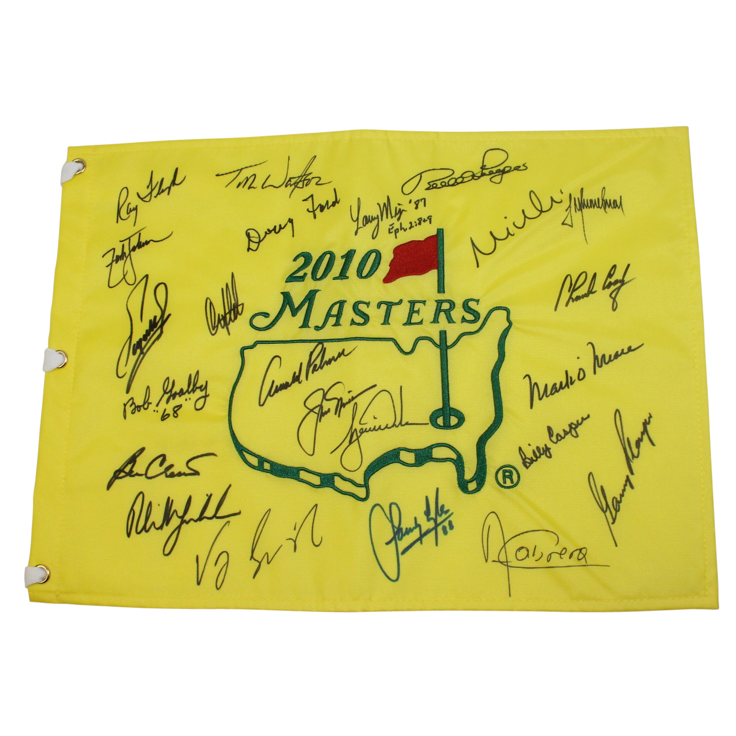 an open letter lot detail floyd s 2010 masters champs dinner flag 20447