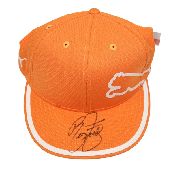 6c9cd2b5 ... wholesale rickie fowler signed orange puma hat psa dna ab97568 29d41  022fc