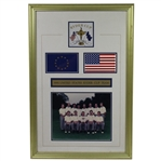 1995 Ryder Cup at Oak Hill GC USA Team Gift Framed Photograph with Logo of Matches