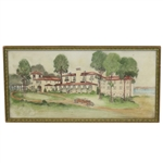 1930s Clubhouse at Forest Lake CC Original Architectural Drawing - Framed