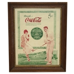 Vintage Coca-Cola Golf Themed 19th Hole Advertising Piece - Framed