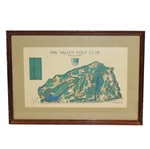 Pine Valley Colf Glub Classic Aerial Map of Historic Perennial #1 World Rated Course - Framed