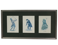 "Three of Norman Orrs ""Classic Golf"" Print Series Prints - Framed"