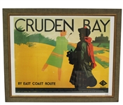 Cruden Bay National Railway Poster Advertising by Artist Tom Purvis - Framed