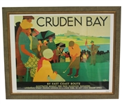 Cruden Bay National Railway Poster Advertising by Artist Tom Purvis - Putting - Framed