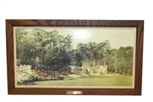 Augusta National Hole #13 Members Color Reproduction of Original 6x3 by Artist Dave Jones