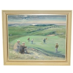 George Houghton Original 14th Green at Muirfield Painting - Framed