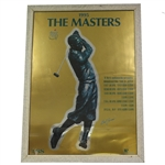 Japan 1995 Masters TBS Silverfoil Poster with Bob Jones on Cover - Framed