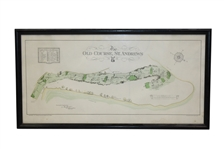 The Old Course St. Andrews Map Surveyed & Depicted by A. MacKenzie - Print - Framed - Robert Sommers Collection