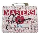 1986 Masters Series Badge Signed by Winner Jack Nicklaus JSA ALOA