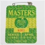 1980 Masters Tournament Series Badge #8367 - Seve Ballesteros Win