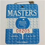 1983 Masters Tournament Series Badge #08205 - Seve Ballesteros Win