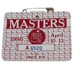 1986 Masters Tournament Series Badge #A6520 - Jack Nicklaus Win