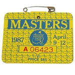 1987 Masters Tournament Series Badge #A06423 - Larry Mize Win