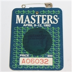 1992 Masters Tournament Series Badge #A06032 - Fred Couples Win