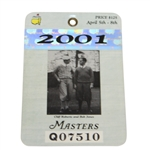 2001 Masters Tournament Series Badge #Q07510 - Tiger Woods Win