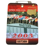 2003 Masters Tournament Series Badge #Q07389 - Mike Weir Win