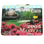 2005 Masters Tournament Series Badge #Q07163 - Tiger Woods Win